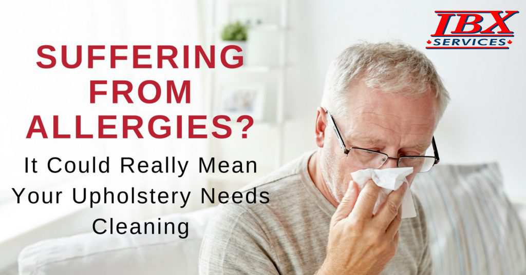 Suffering from allergies? It could really mean your upholstery needs cleaning.