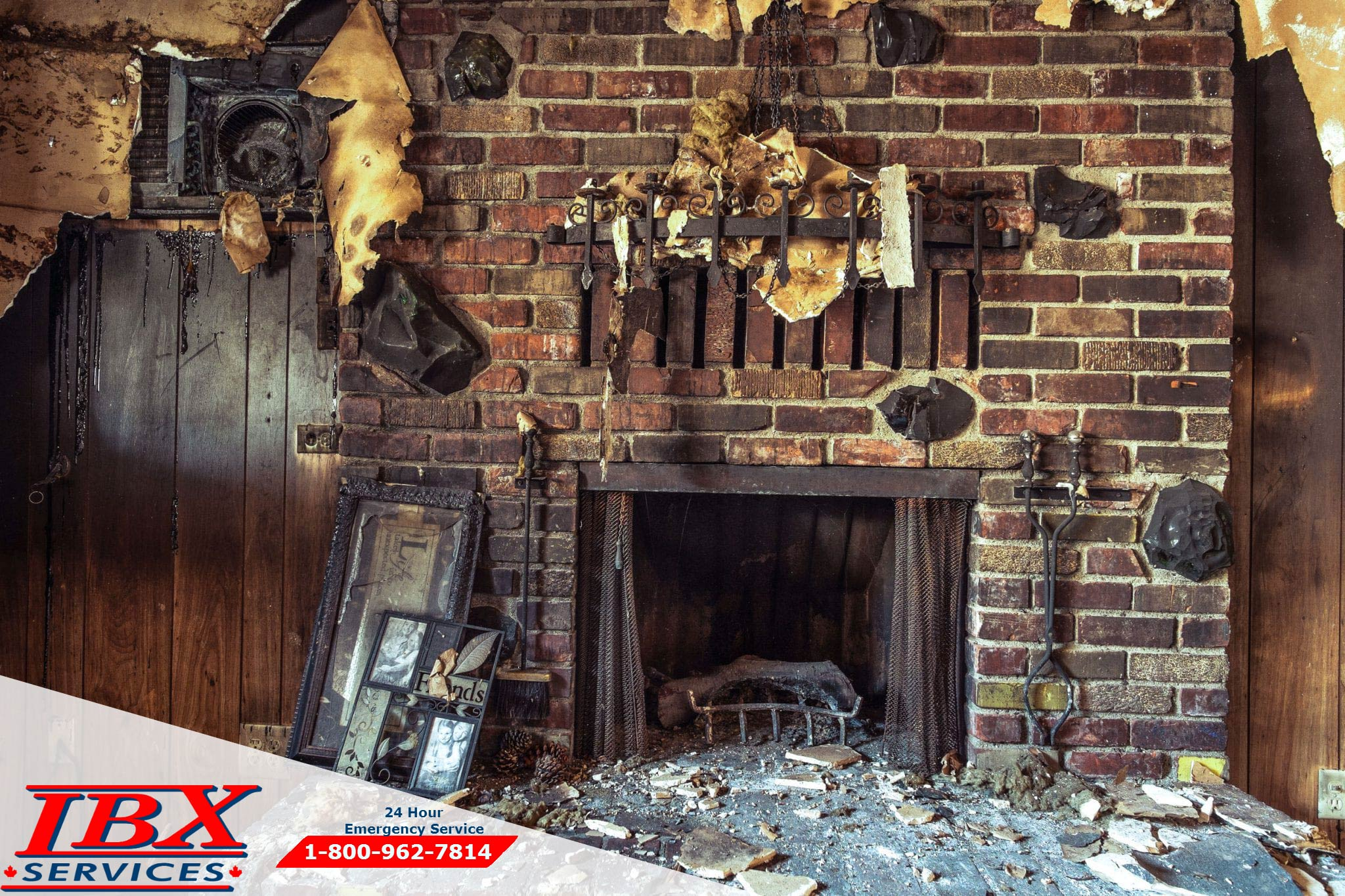 The process of fire damage restoration